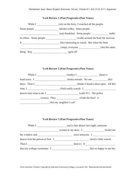 past tense verbs worksheets fourth grade verbs
