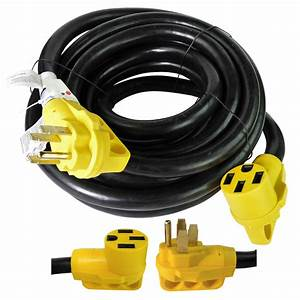 30 Foot 50 Amp Rv Extension Power Cord 100  Copper Wires