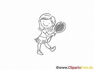 Comic Figuren Schwarz Weiß : m dchen mit tennisschl ger zeichnung schwarz weiss bild ~ Watch28wear.com Haus und Dekorationen