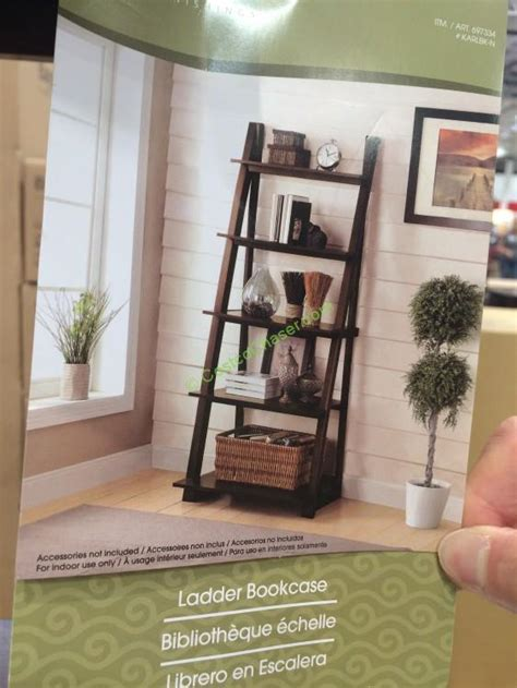 Costco Bayside Bookcase by Bayside Furnishings Ladder Bookcase Model Karlbk N
