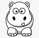 Hippo Coloring Line Google Cartoon Drawing Face Colouring Clipart Transparent Clipartkey sketch template