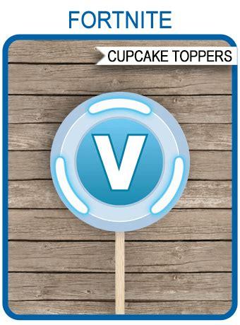 fortnite  bucks cupcake toppers template fortnite
