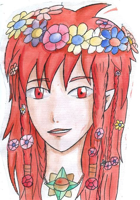Ira By Silgil Elf Watercolour Flower Oc Deviantart