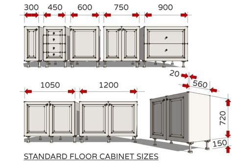 standard drawer sizes standard dimensions for australian kitchens illustrated 747 | Fig 3 Standard Floor Cabinet Sizes