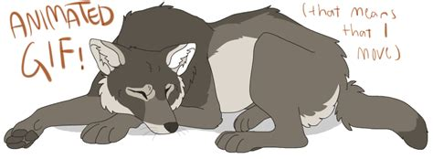 Napping Wolf Animated Gif By Hullurichie On Deviantart