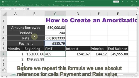 How to Create an Amortization table in EXCEL #EXCELTricks ...