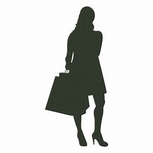 Woman shopping bags talking on phone - Transparent PNG ...