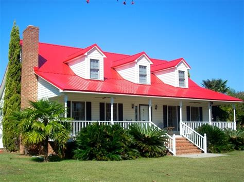 red roof + black shutters  Curb Appeal  Pinterest Red