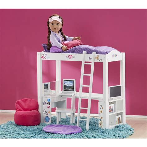 journey girls wood bed  desk combo journey girls toy  american girls