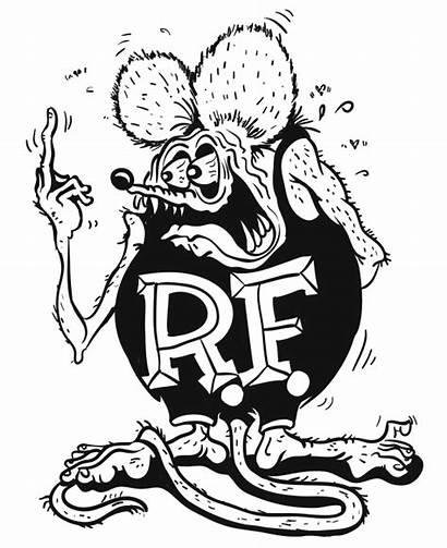 Rat Fink Clipart Coloring Finger Middle Roth