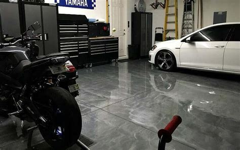 A RockSolid Metallic Garage Floor Coating Project   All