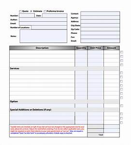 Search results for blank estimate template calendar 2015 for Estimate invoice template