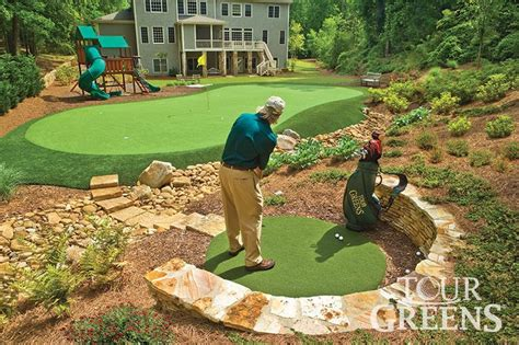 Backyard Golf Drills by Onelawn Artificial Grass Golf And Putting Greens For