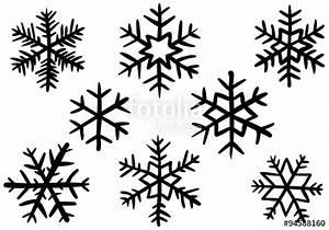 Weihnachtsmotive Schwarz Weiß : vektor set 8 schneeflocken schwarzwei handgezeichnet vektor stockfotos und lizenzfreie ~ Buech-reservation.com Haus und Dekorationen