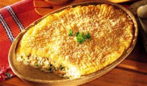 pastel de pollo  pure de patatas sabor suave recetin
