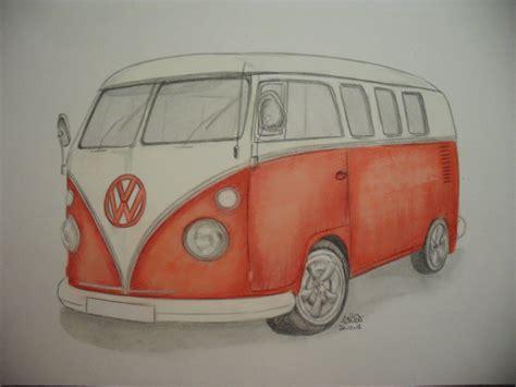 volkswagen bus drawing red vw cer van by hazeleyes1990 on deviantart