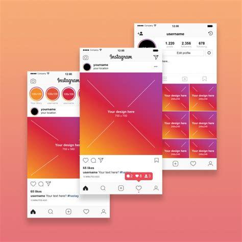 Instagram Mockup Instagram Post Mockup Psd File Premium