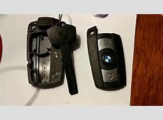 Changing a rechargeable batterie on BMW keyfob E60 520d