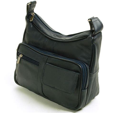 Women's Leather Organizer Purse Shoulder Bag Multiple