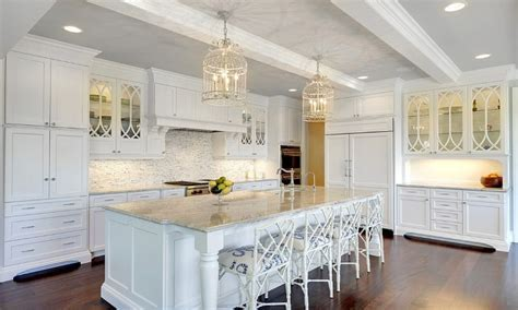 Kitchen Large Crisp White With Faux Bamboo Counter Stools