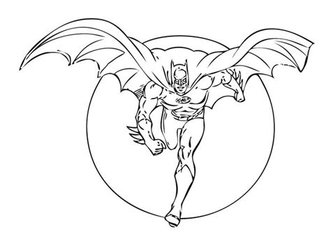 Batman Running Coloring Pages
