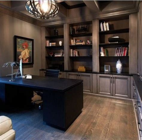 Masculine Home Office Decorating Ideas by 50 Dramatic Masculine Home Office Designs Comfydwelling