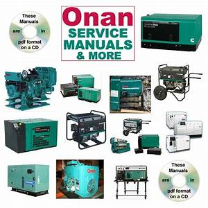 Onan Rv Generator Nh Parts Catalogs  U0026 Service Manual