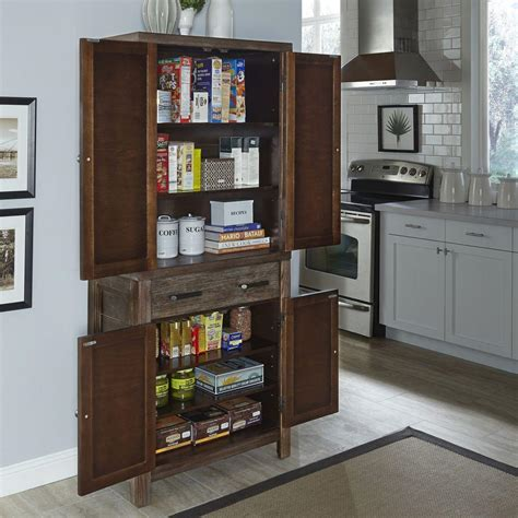 home styles barnside weather aged food pantry