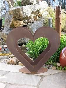Holz Deko Garten : herz aus metall holz regal edel rost garten terrasse deko toll ebay ~ Orissabook.com Haus und Dekorationen