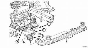 How Do I Remove The Front Motor Mount On A 2004 Pacifica 3