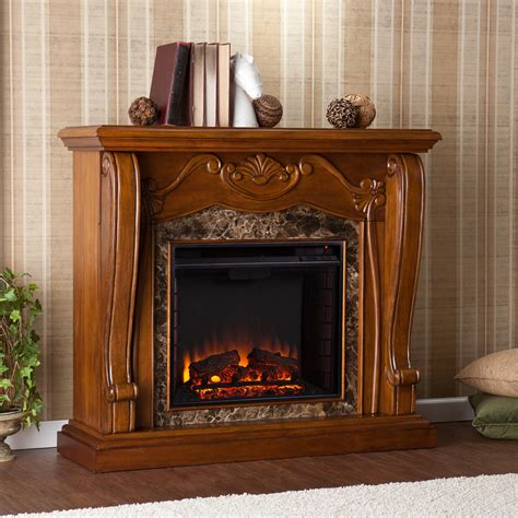 chocolate brown electric fireplace