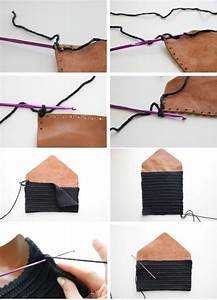 Handmade leather clutch DIY Crafts Pinterest Leather