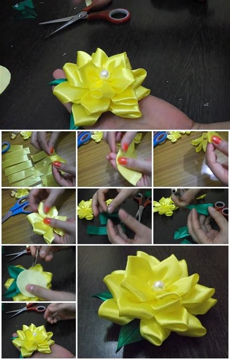 satin ribbon flower usefuldiycom