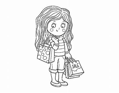 Shopping Summer Coloring Coloringcrew