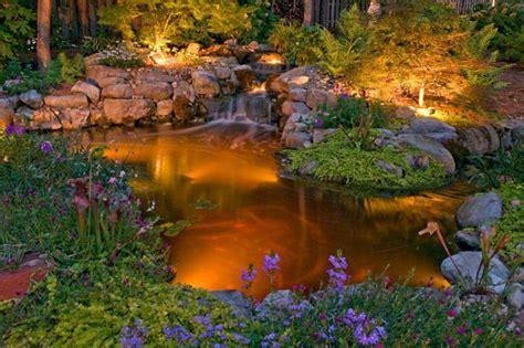garden pond lighting ideas 201 clairage ext 233 rieur led solaire et d 233 coratif comme accent