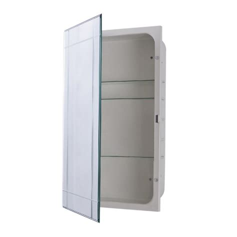 surface mount medicine cabinet with mirror bellaterra home sumner 16 in x 26 in frameless recessed