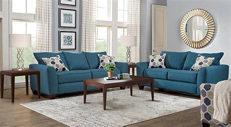 Bonita Springs Blue 5 Pc Living Room  Living Room Sets (blue