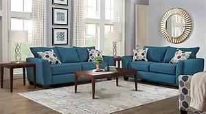 bonita springs blue 5 pc living room living room sets blue With image of living room furniture