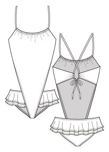fashion design portfolios monokini swimsuits  fashion