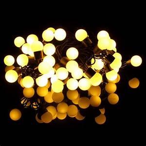 Guirlande Lumineuse Boule Exterieur : 5m 50 led guirlande lumineuse int rieure ext rieur boule d cor mariage no l f te eu prise blanc ~ Dode.kayakingforconservation.com Idées de Décoration