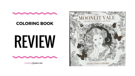 moonlit vale coloring book review unboxing annie