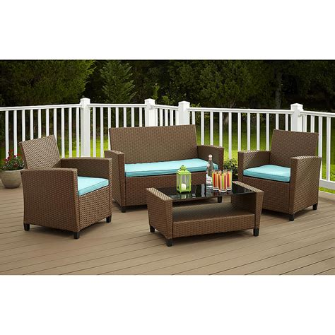 walmart patio furniture wicker royal 10 outdoor wicker patio furniture set 10b