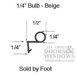 bulb weatherstrip  offset leg casement double hung windows beige