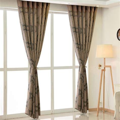 brown curtain living room european drapes curtains window