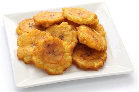 tostones fried green plantains taste  islands