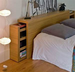 7 alternatives to bedside tables for small spaces mocha With bedhead with storage