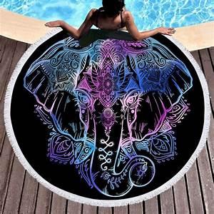 Grande Serviette De Plage Ronde : serviette de plage ronde elephant mystique boutique namaste ~ Teatrodelosmanantiales.com Idées de Décoration