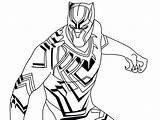 Panther Coloring Pages Marvel Colouring Printable Superhero Drawing Flash Mask Books sketch template