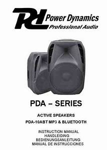Power Dynamics Active Speaker Pda 10abt Mp3 Bleutooth Home