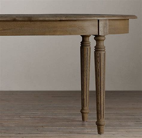 vintage french fluted leg dining table  restoration